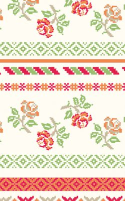 کاغذ دیواری دارای گل ریز شاد و مدرن بونت کد ۴۶۹۱۳ ساخت کشور هلند مناسب اتاق خواب