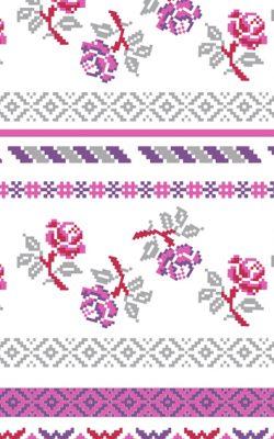 کاغذ دیواری دارای گل ریز شاد و مدرن بونت کد 46914 مخصوص اتاق خواب