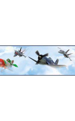 حاشیه کاغذ دیواری اتاق کودک دیزنی با طرح هواپیما کد DS7718BD