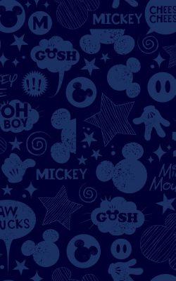 کاغذدیواری سورمه ای طرح دار دیزنی آمریکایی اتاق کودک DS7813