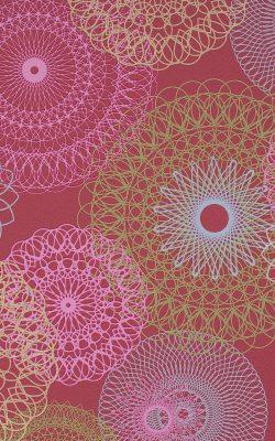 کاغذ دیواری مدرن گلدار رنگ قرمز کد 48914 آلبوم لِف