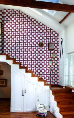 پوستر کاغذ دیواری طرح کاشی رنگ قرمز کد 3000012 آلبوم تایلز