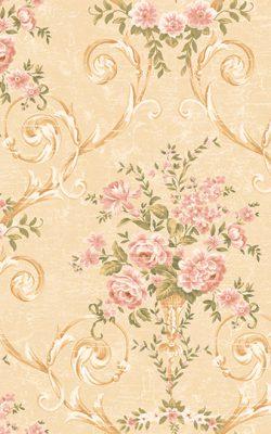 کاغذ دیواری گل گلی ساخت آمریکایی برای پذیرایی با کد 50501 از کاتالوگ دورچستر
