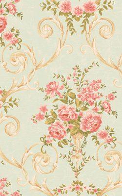 آلبوم کاغذ دیواری گل گلی مجلل آمریکایی برای پذیرایی با کد 50504 آلبوم دورچستر