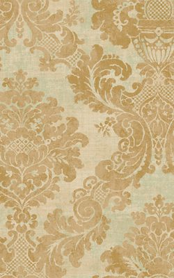 کاغذ دیواری طرح گل داماسک با رنگ طلایی قهوه ای کد 50704 آلبوم دورچستر