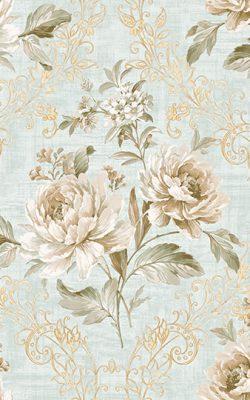 کاغذ دیواری گل دار اتاق خوابی با رنگ های ملایم کد 50102 آلبوم دورچستر
