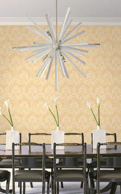 کاغذ دیواری گل گلی طرح داماسک کد 21309 آلبوم اسپلانده