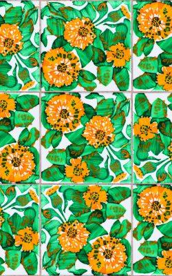 پوستر کاغذ دیواری طرح گل اسپانیائی کد 3000022 آلبوم تایلز