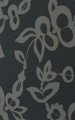 کاغذ دیواری مشکی طرح دار تخفیف خورده قابل شستشو از آلبوم بروکانته با کد 45925