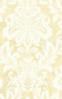 کاغذ دیواری داماسک برای پذیرایی لوکس رنگ کرم ساخت آمریکا از آلبوم داماسک فولیو 30011