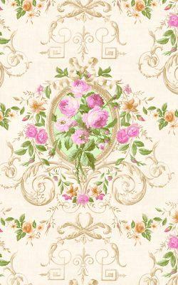 کاغذ دیواری گلدار شیک و زیبا ساخت آمریکا از آلبوم داماسک فولیو کد 30204