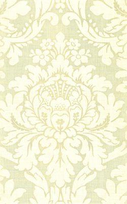 کاغذ دیواری گل داماسک کرم از آلبوم داماسک فولیو برند سیبروک آمریکا کد 30403
