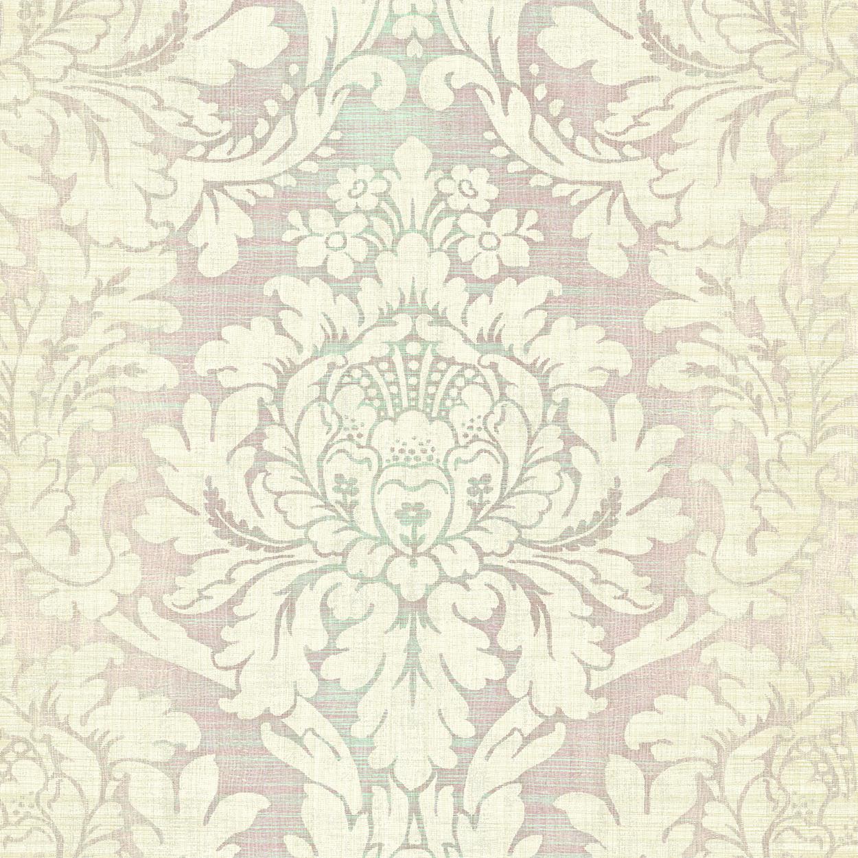 کاغذدیواری طرح دار لاکچری رنگ ملایم از آلبوم داماسک فولیو برند سیبروک آمریکا 30409