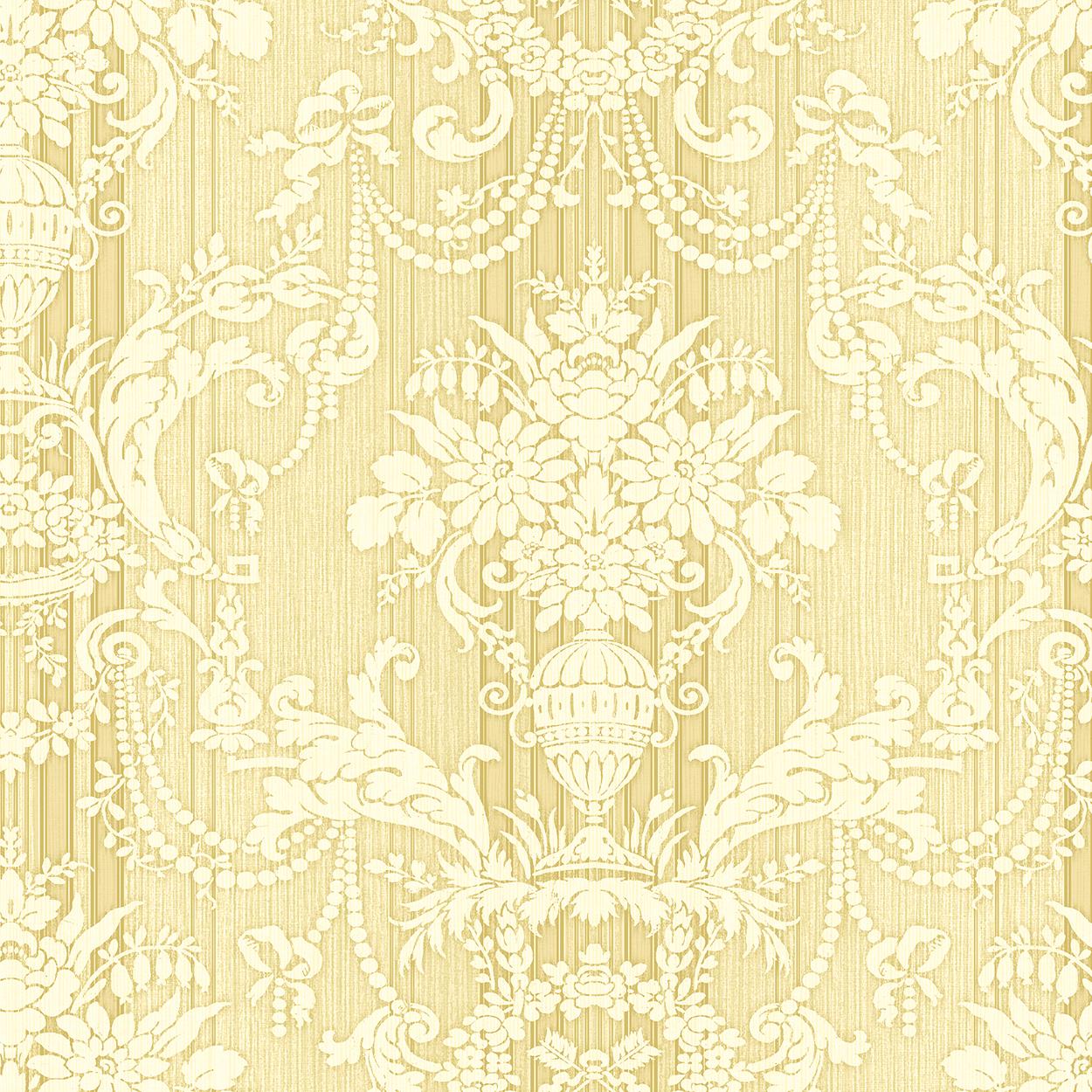 کاغذ دیواری گل داماسک طلایی از آلبوم لاکچری داماسک فولیو برند سیبروک کد 30801 آمریکا