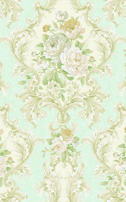 کاغذ دیواری گل دار شیک و زیبا از آلبوم لاکچری داماسک فولیو برند سیبروک کد 30907