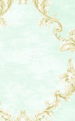 کاغذ دیواری طرحدار آبی ملایم برند سیبروک ساخت آمریکا از آلبوم داماسک فولیو 31002