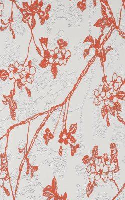 کاغذ دیواری طرح شاخه گلدار ساخت هلند قابل شستشو کد 46021 چکران