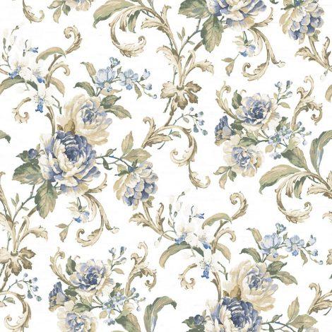 کاغذ دیواری گلدار آبی لوکس آلبوم لامینوس لوندر یورک کد 3202 ساخت آمریکا